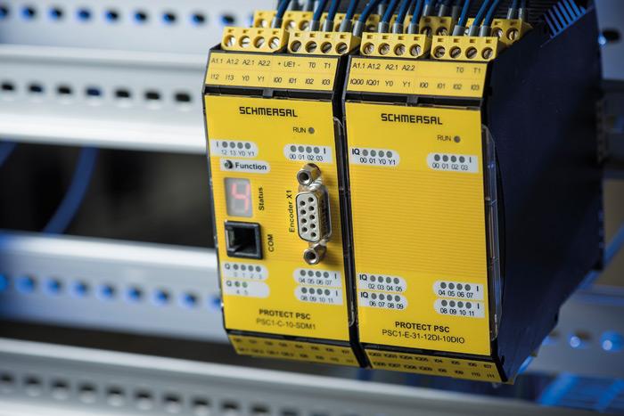 Fot. 3. Nowy modułowy sterownik bezpieczeństwa PSC1 firmy Schmersal umożliwia programowanie indywidualnych systemów bezpieczeństwa