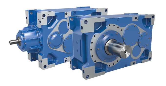 Nowe reduktory przemysłowe wzakresie obciążeń do 20000 Nm zapewniają dużą elastyczność wyposażenia napędu, np. znapędem podwójnym iwahaczem silnika