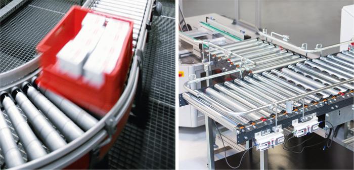 Przykłady: buforowanie bezdotykowe oraz pozycjonowanie przenoszonych produktów