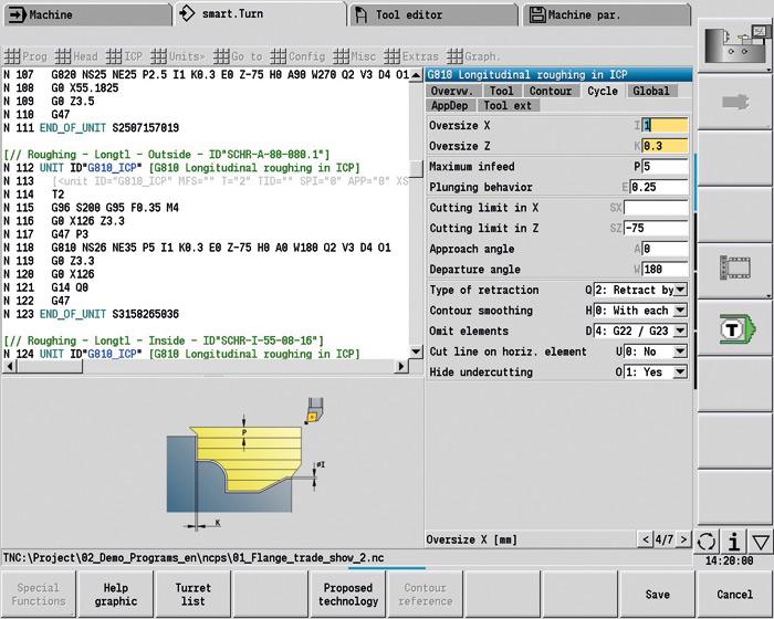 Widok ekranu zoprogramowaniem TURN PLUS