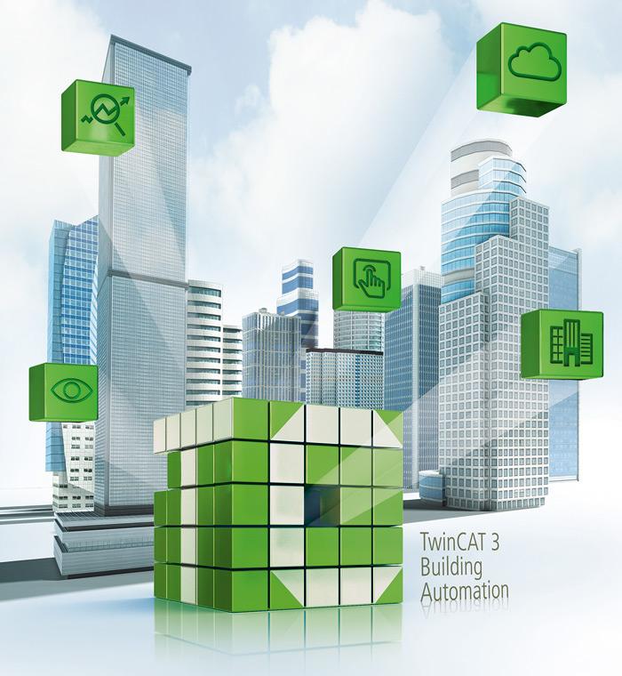 TwinCAT 3Building Automation – nowa generacja oprogramowania do sterowania automatyką budynkową – wpołączeniu zwtyczkami TwinCAT HMI, IoT, Analytics iScope integruje wjednym narzędziu wszystkie moduły istotne zpunktu widzenia automatyki budynkowej, atym samym oferuje szereg nowych możliwości wzakresie projektowania isterowania wszystkimi komponentami systemu