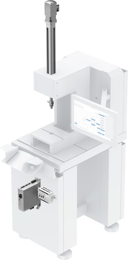 Zestaw serwoprasy YJKP do produkcji elektroniki imałych elementów reprezentuje kluczowe cechy Przemysłu 4.0, zapewniając prostą, intuicyjną obsługę przy wykorzystaniu standardów komunikacji OPC-UA