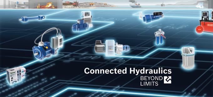 Koncepcja Connected Hydraulics jest wynikiem postępującej elektronizacji, która pozwoliła na bezproblemowe podłączenie hydrauliki do nowoczesnych struktur sieciowych