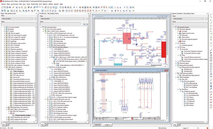 EPLAN Preplanning wwersji 2.7 ułatwia planowanie rurociągów, począwszy od fazy planowania wstępnego, do planowania szczegółowego na schematach idiagramach P&I