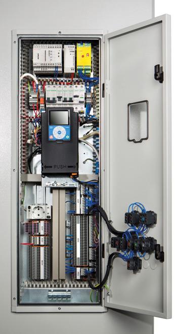 Rys. 3. Elewacja sekcji sterowania zpanelem LCD użytkownika  oraz zopcjami kontrolnymi sterowania