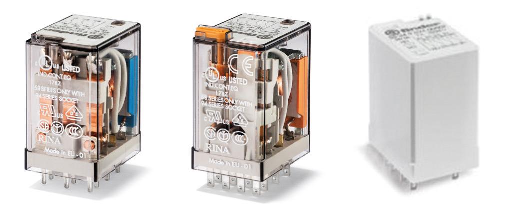 Seria 55 – montaż do PCB igniazd na szynę DIN