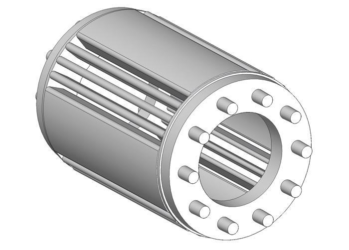 Klatka wirnika  silnika reluktancyjnego