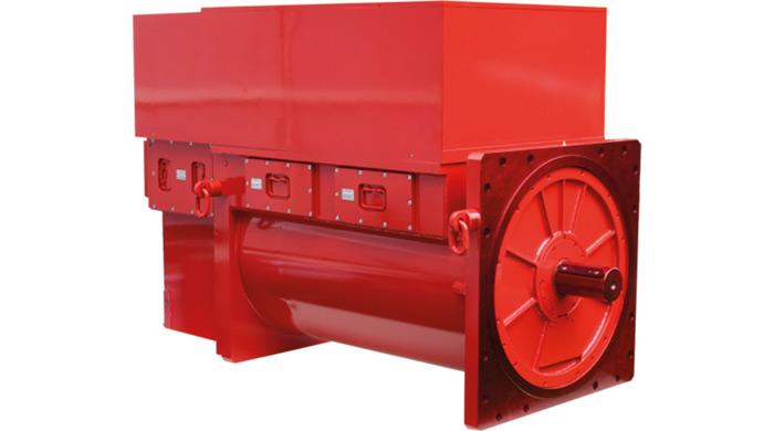 Rys. 1. Silnik produkcji DFME DAMEL SA typu: SG3Fz 450X-4C (710 kW, 3300 V) zintegrowany zprzemiennikiem częstotliwości