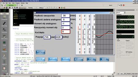 Rys. 10. Przykładowy kod programu realizujący sterowanie serwonapędem (krok/kierunek)