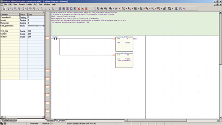 Rys. 6. Kod programu realizujący obsługę enkodera zewnętrznego
