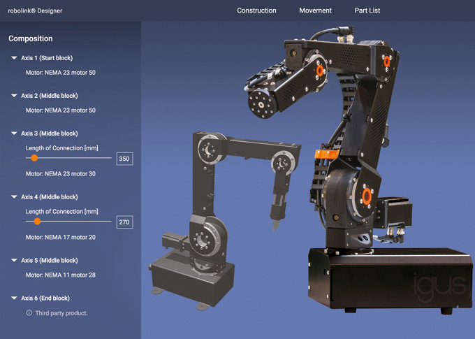 Zoptymalizowana konstrukcja zapewniająca jeszcze większą swobodę ruchu oraz stabilność – dowolnie konfigurowalne ramiona robotów robolink do indywidualnie projektowanej, niedrogiej automatyki