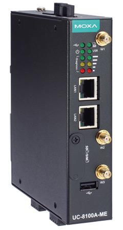Rys. 1. Kompaktowy  komputer Moxa  UC-8112A-ME-T-LX-EU zwbudowanym modułem LTE